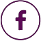 facebook 60 circle purple